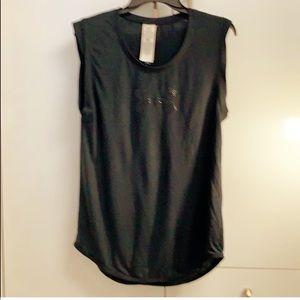 Under armor logo sleeveless T shirt